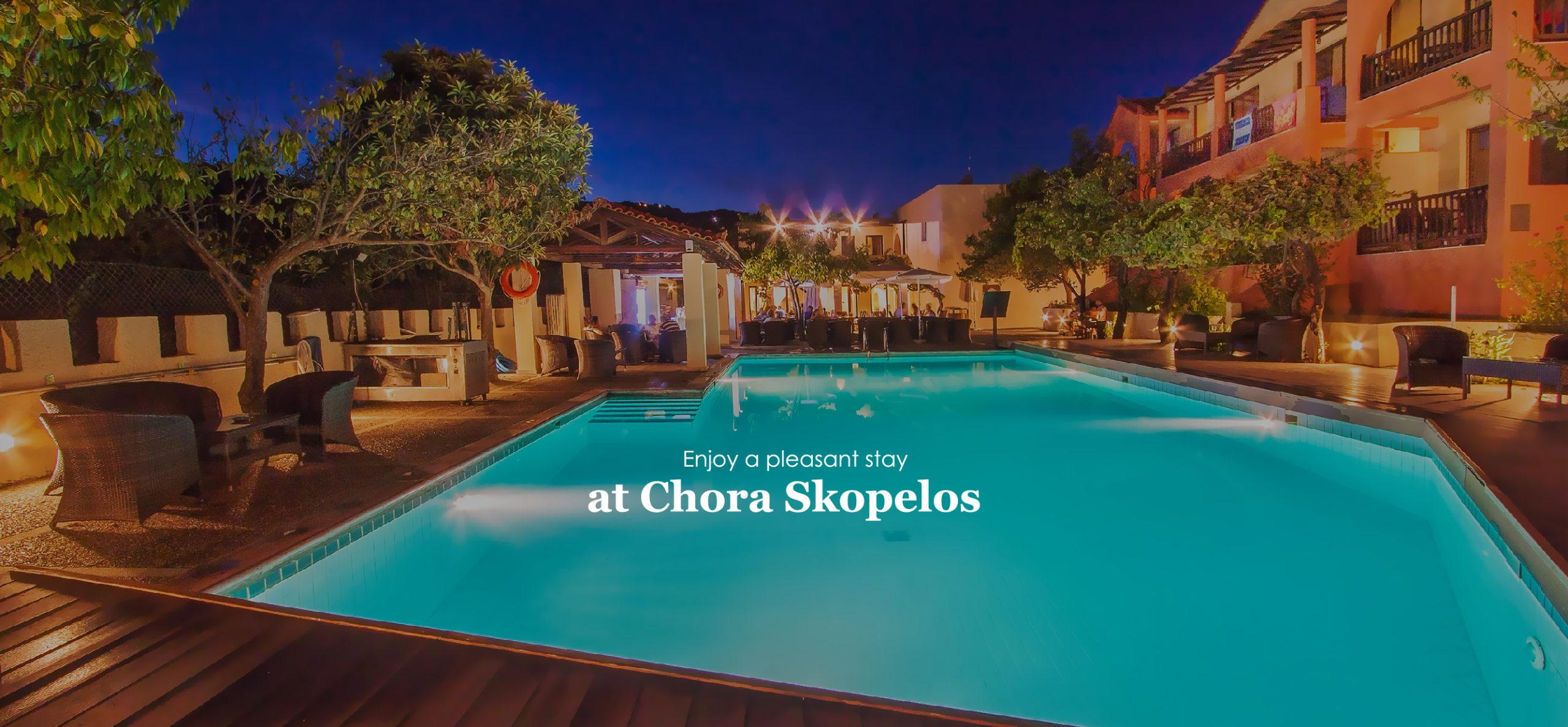 Hotel with pool in Skopelos