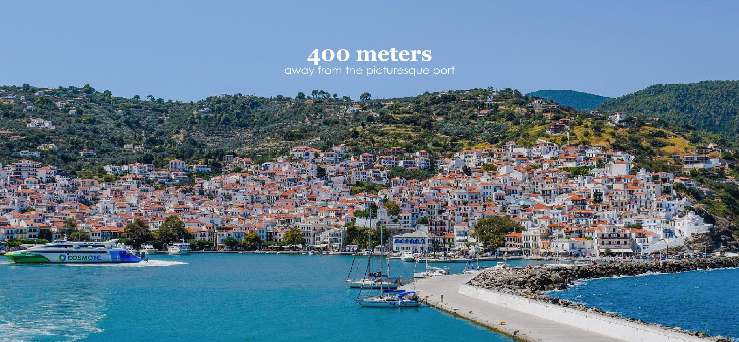 Hotel 400 meters away from the port of Skopelos