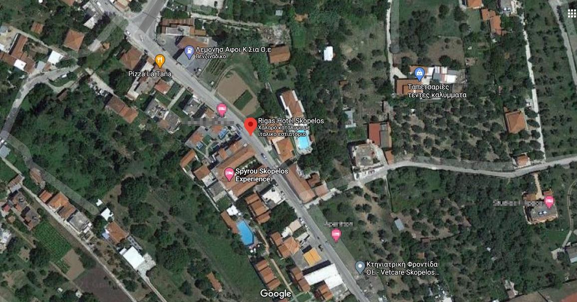 Rigas Hotel Skopelos Ξενοδοχείο Στη Σκόπελο, Χάρτης
